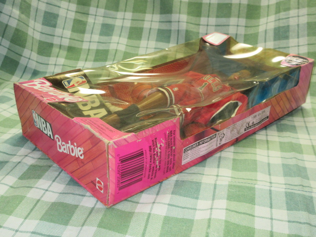 希少NBA バービー 1998 シカゴブルズ Barbie バスケットボール アフリカン アメリカン ドール レトロ ヴィンテージ 人形 フギュア 着せ替え_パッケージ擦れ等