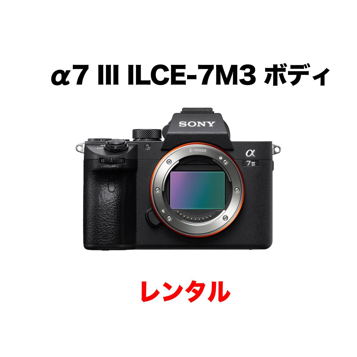 ソニー α7 III ILCE-7M3 ボディ 3日間レンタル_画像1