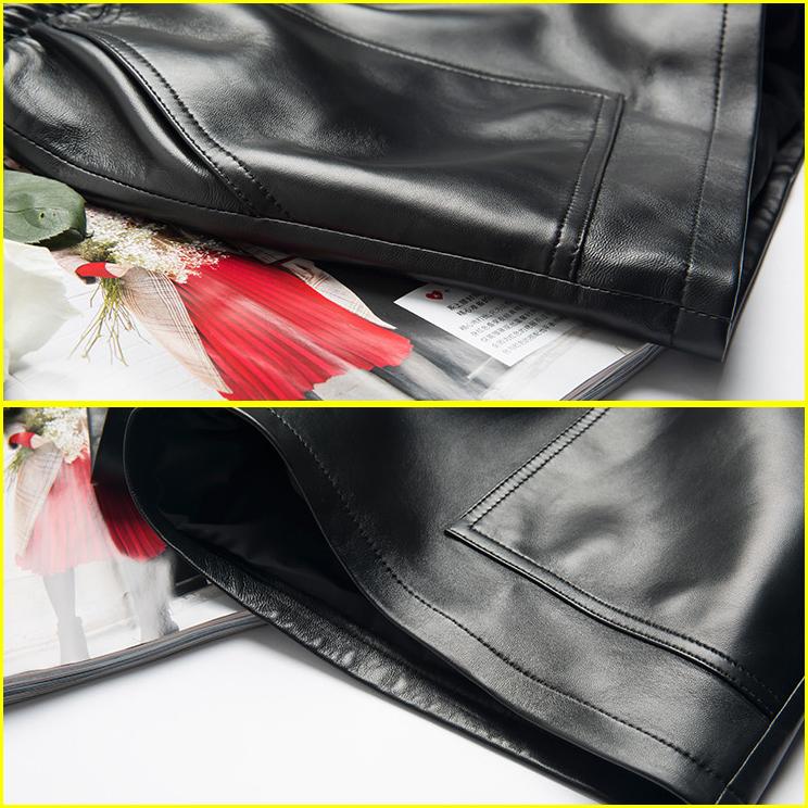 人気レディース本革ラムレザーショートパンツお洒落お出かけファッションカジュアル女性女子美ラインショーパンセクシーラブリーガール Q64_画像8
