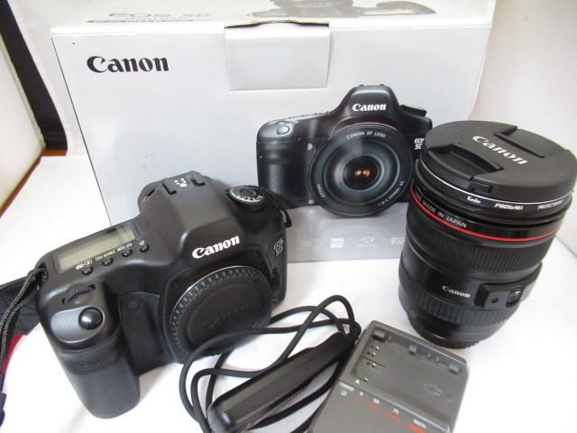 118☆キャノン/Canon EOS 5D DIGITAL EF 24-105mm 1:4 L IS USM KIT 1円~