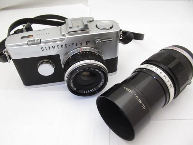 139☆OLYMPUS/オリンパス PEN F E.Zuiko Auto-W 1:4 25mm/E.Zuiko Auto-T 1:3.5 100mm ジャンク扱 1円~/カメラ/レンズ