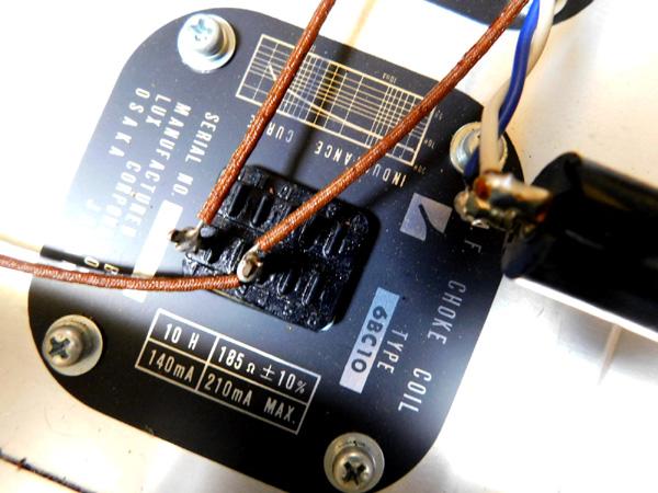 018 自作 電源装置 電源トランス チョークトランス TANNGO LH150 LUX 6BC10 6BC5_画像7