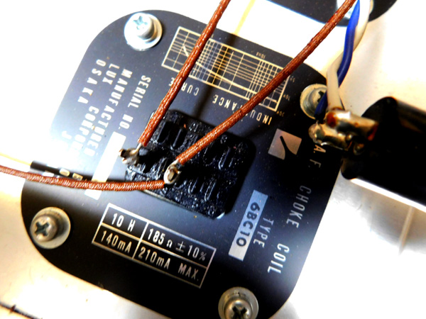 018 自作 電源装置 電源トランス チョークトランス TANNGO LH150 LUX 6BC10 6BC5_画像8