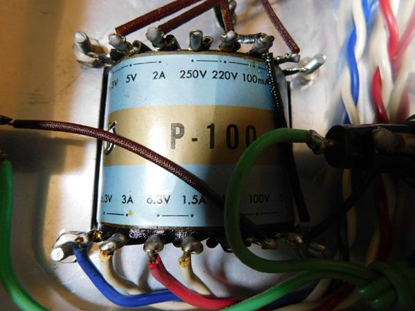 021 自作 電源装置 電源トランス チョークトランス サンスイ 山水_画像5