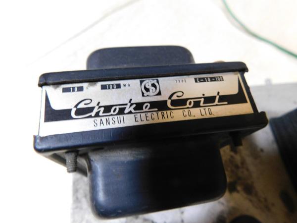 021 自作 電源装置 電源トランス チョークトランス サンスイ 山水_画像8