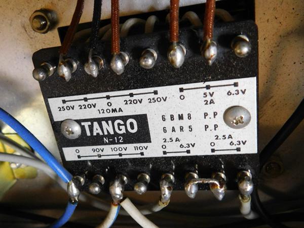 024 自作 電源装置 電源トランス チョークトランス LUX TANGO N-12 6BM8 P.P 6AR5 P.P_画像6