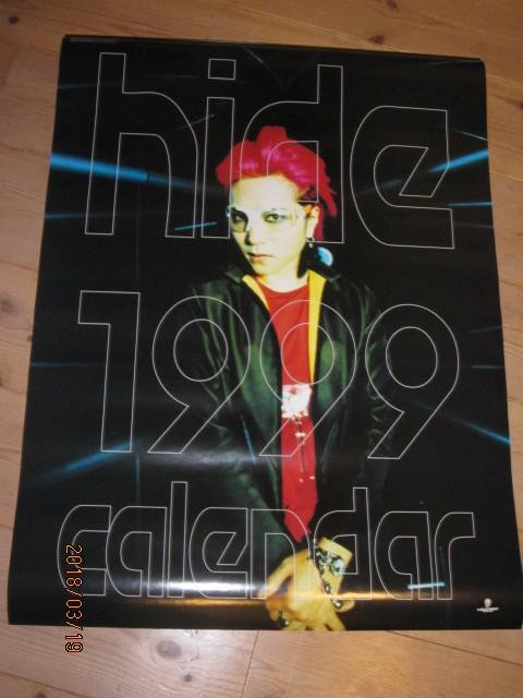 絶版◆HIDE◆ヒデ1999年カレンダーポスター新品その⑧X JAPAN◆ジャパメタヘビメタYOSHIKIPATA TAIJI TОSHIエックスインディーズバンド_画像1