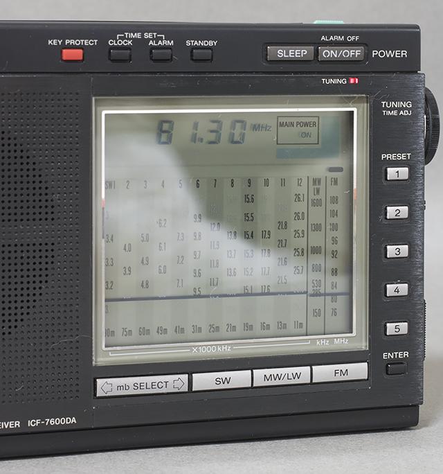 中古品|SONY:ソニー|15バンドラジオ|ICF-7600DA|PLLシンセサイザーレシーバー|FM/LW/MW/SW|短波|BCL|液晶ダイヤル_画像2