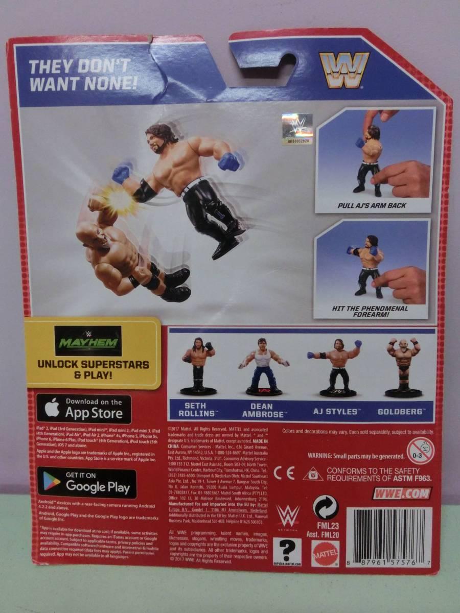 WWE AJスタイルズ フィギュア人形 プロレス MATTELマテル WWF WCW ハズブロ RAW アレン・ジョーンズ AJ Styles Figure TNA 新日本プロレス_画像3