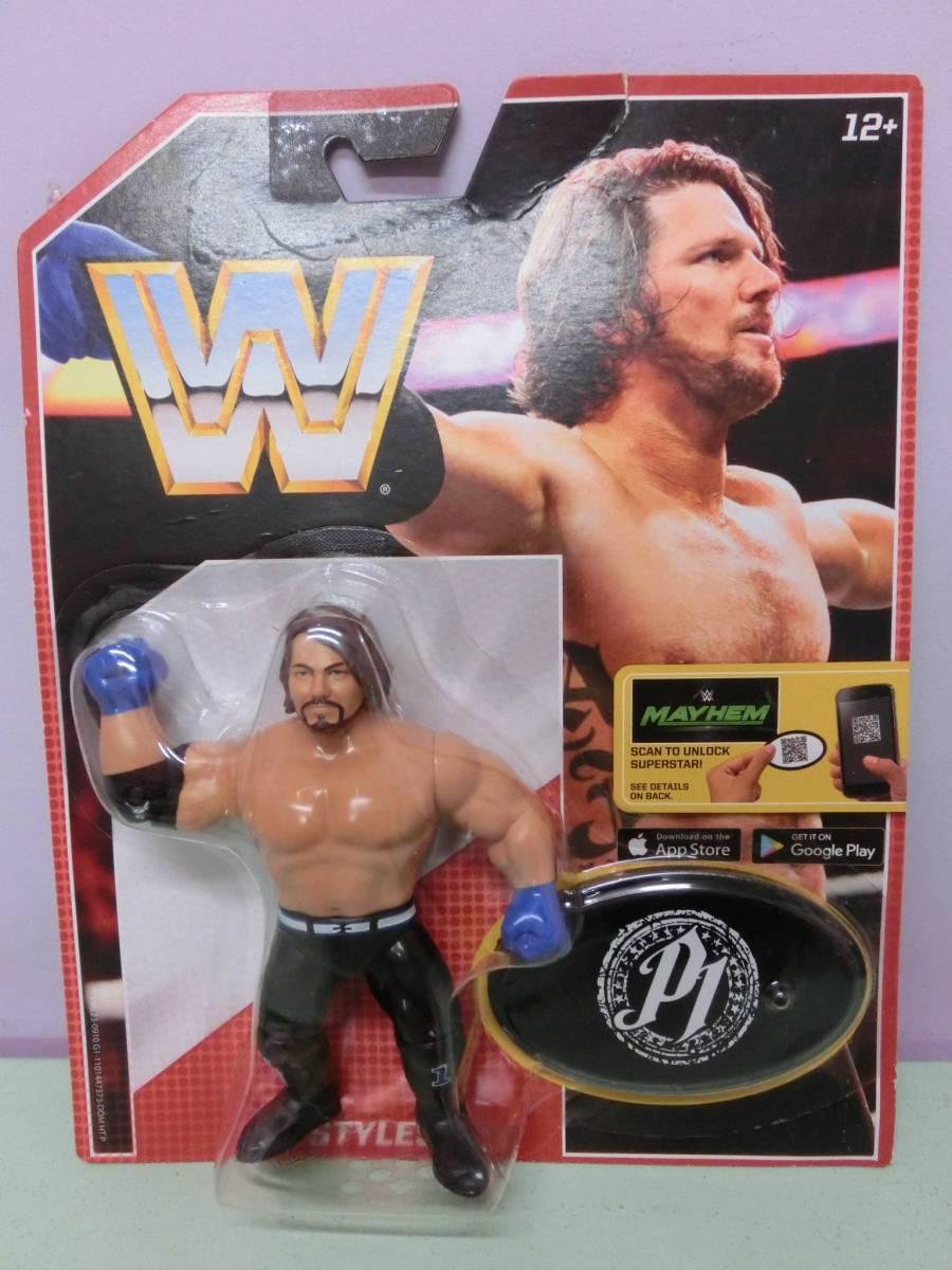 WWE AJスタイルズ フィギュア人形 プロレス MATTELマテル WWF WCW ハズブロ RAW アレン・ジョーンズ AJ Styles Figure TNA 新日本プロレス_画像1
