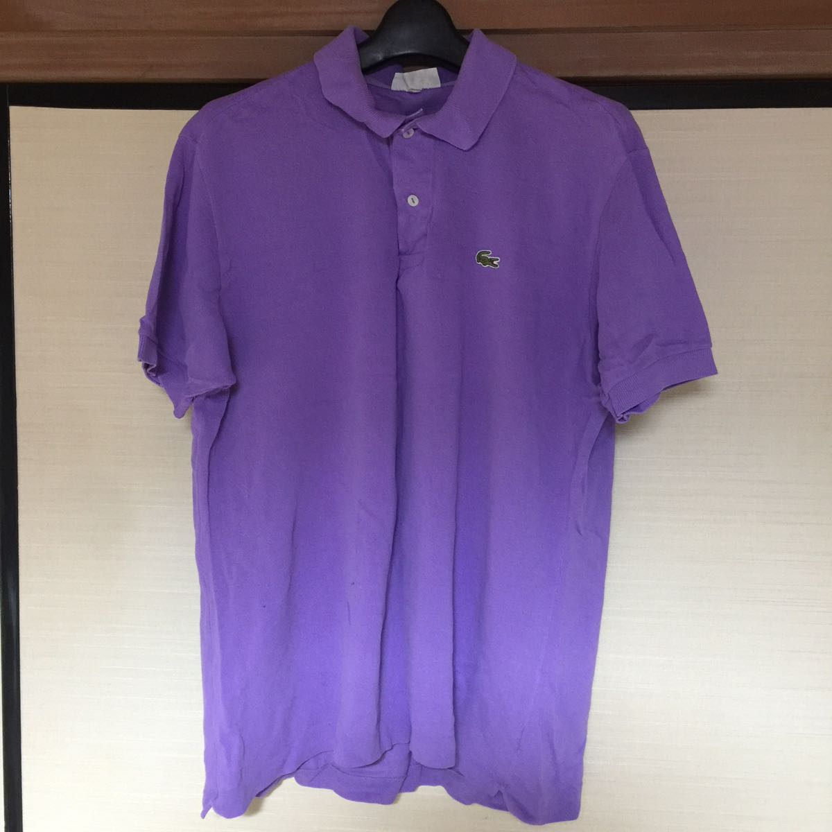 Lacoste Lacoste Polo Shirt France Made Purple Short Sleeves Size 6