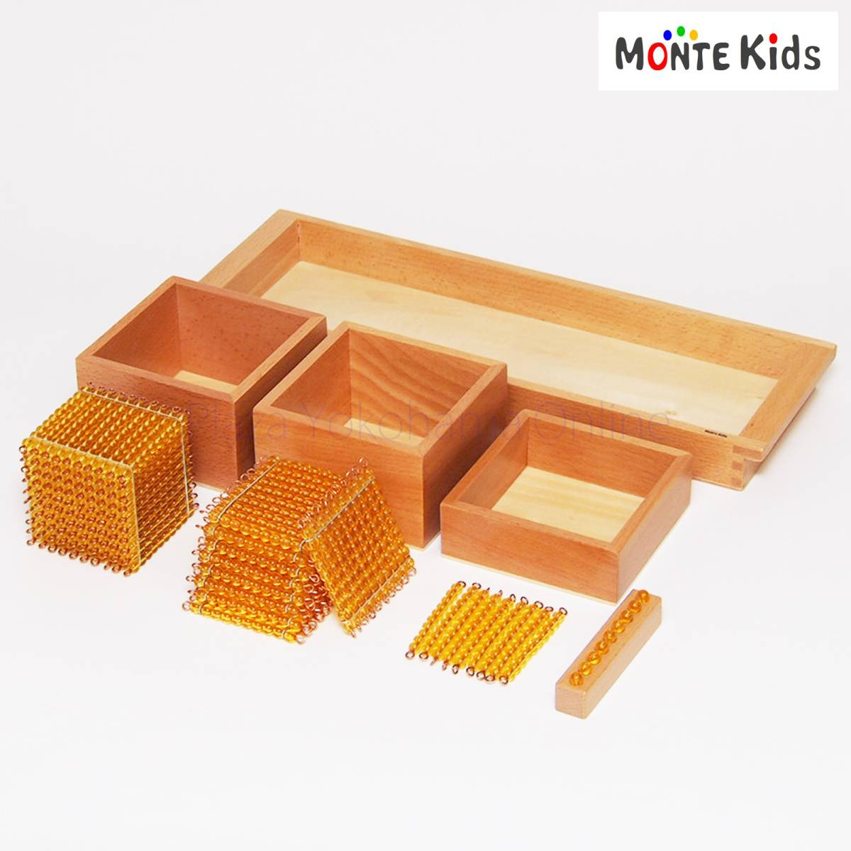 【outlet】☆モンテッソーリ教具☆- 十進法 1-1000の金ビーズ-【MONTE Kids正規品】 純正規格 Montessori 知育玩具教具 早期教育教材_画像2