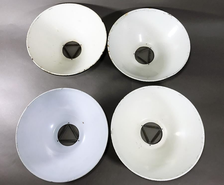 【残り2個!】1940'sアンティークペンダントライトシェード/O.C.WHITE/デスクランプ/アトリエ/照明/ビンテージ/椅子/スチール/デスクライト_画像4