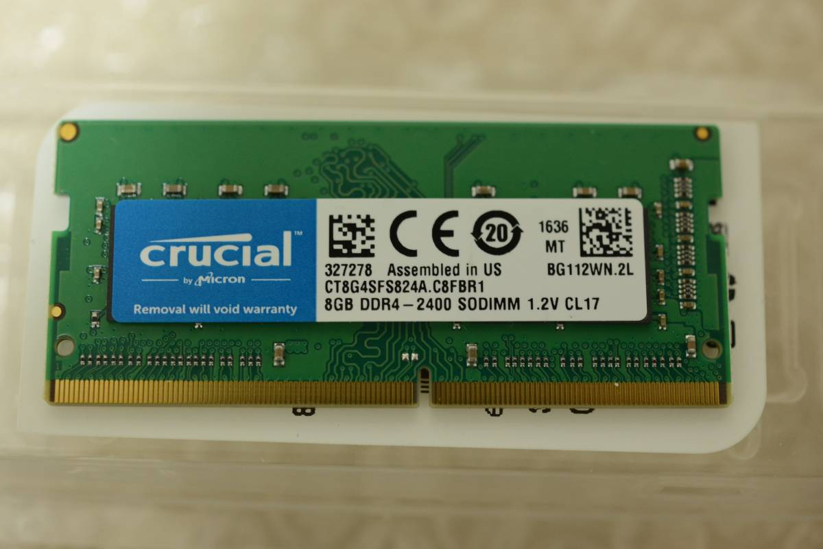 Crucia Ddr4 2400 8gb Pc4 19200 So Dimm 260pin 2400mhz Ct8g4sfs824a Micron 2400t Sodimm