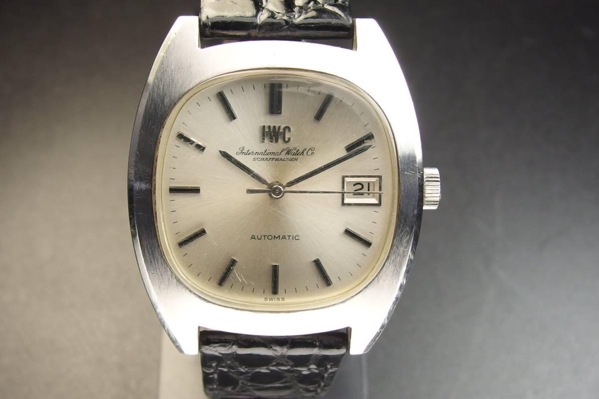 IWC インターナショナルウォッチカンパニー Ref.1872 C.8541B Cライン SSxレザー 自動巻き メンズ 腕時計_画像2