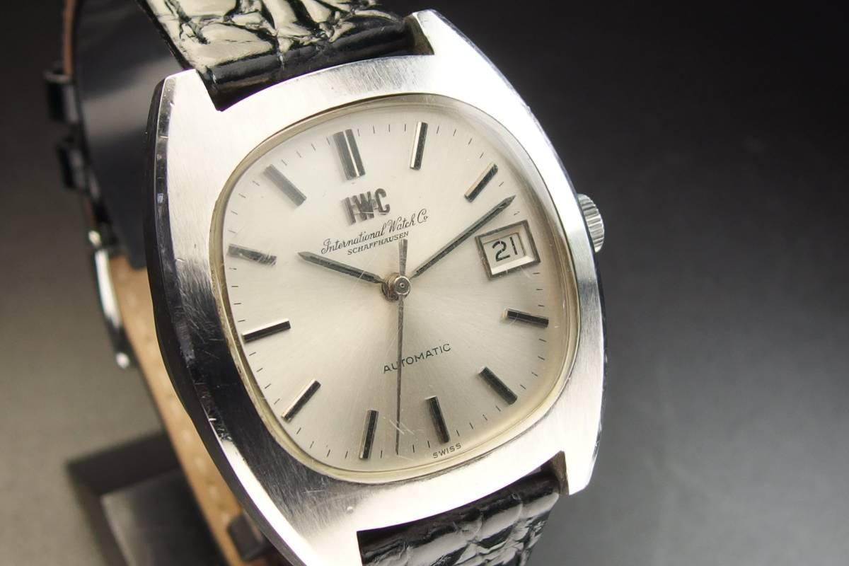 IWC インターナショナルウォッチカンパニー Ref.1872 C.8541B Cライン SSxレザー 自動巻き メンズ 腕時計_画像4