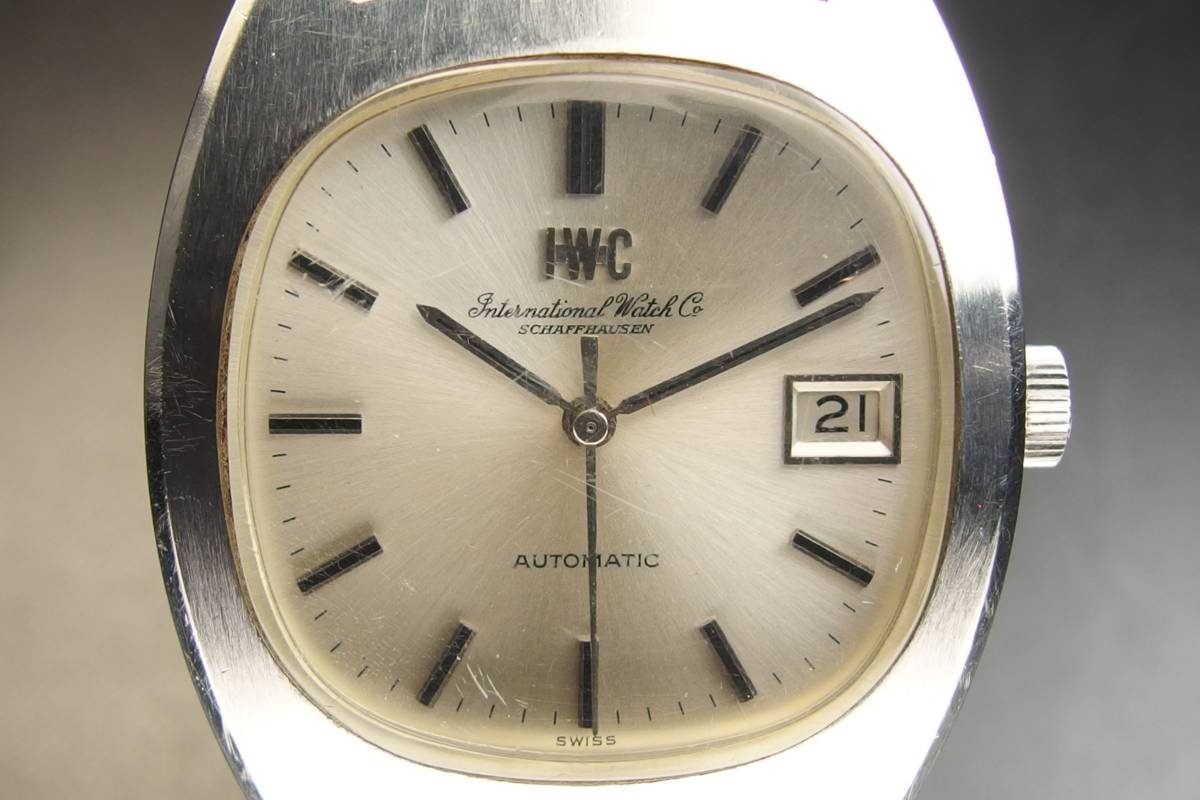 IWC インターナショナルウォッチカンパニー Ref.1872 C.8541B Cライン SSxレザー 自動巻き メンズ 腕時計_画像3