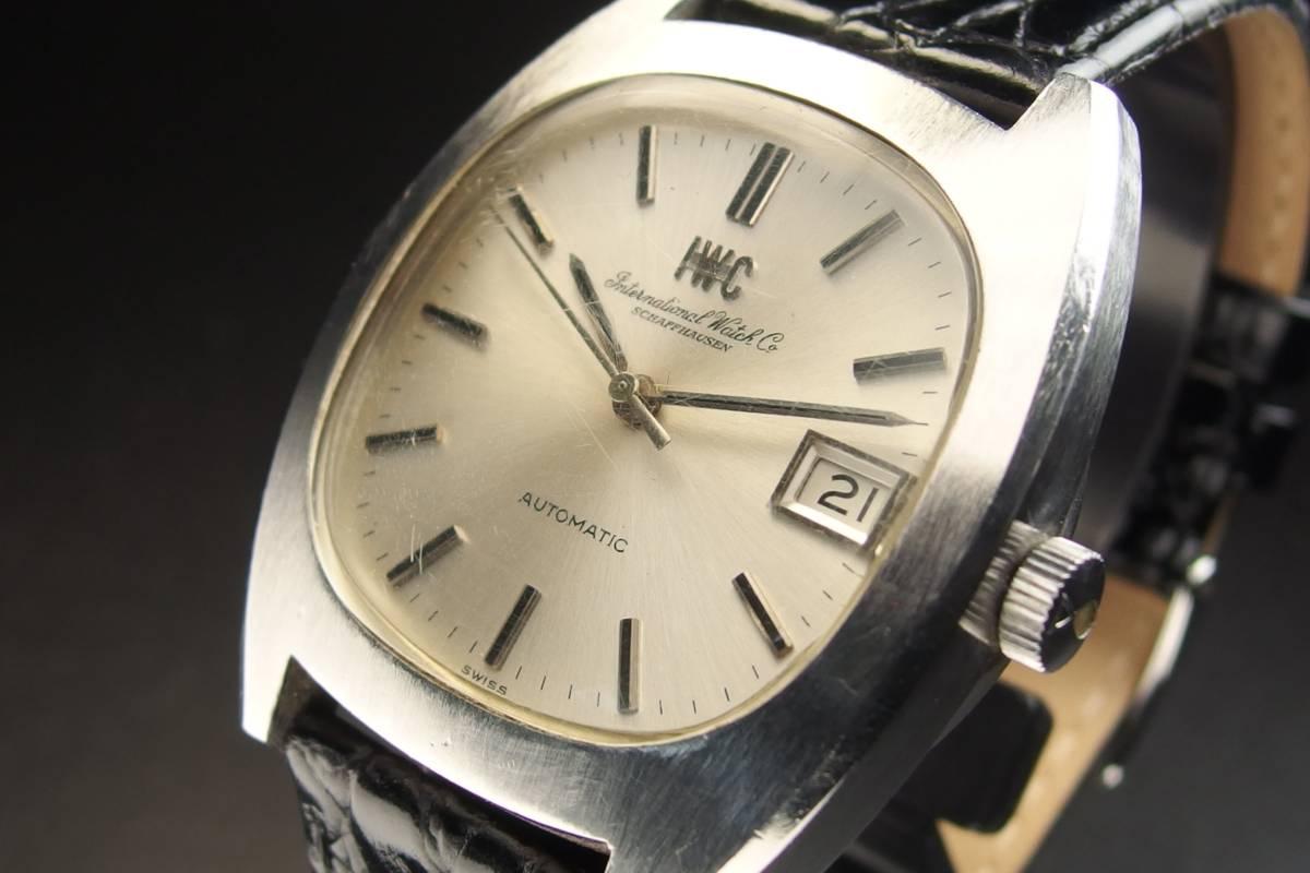 IWC インターナショナルウォッチカンパニー Ref.1872 C.8541B Cライン SSxレザー 自動巻き メンズ 腕時計