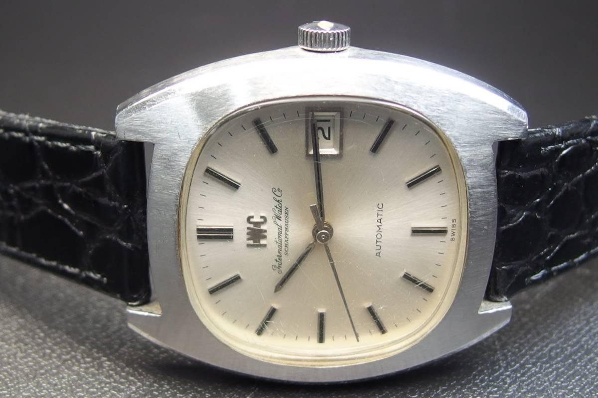 IWC インターナショナルウォッチカンパニー Ref.1872 C.8541B Cライン SSxレザー 自動巻き メンズ 腕時計_画像6