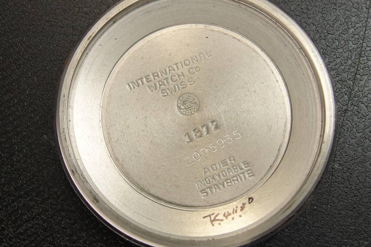 IWC インターナショナルウォッチカンパニー Ref.1872 C.8541B Cライン SSxレザー 自動巻き メンズ 腕時計_画像9
