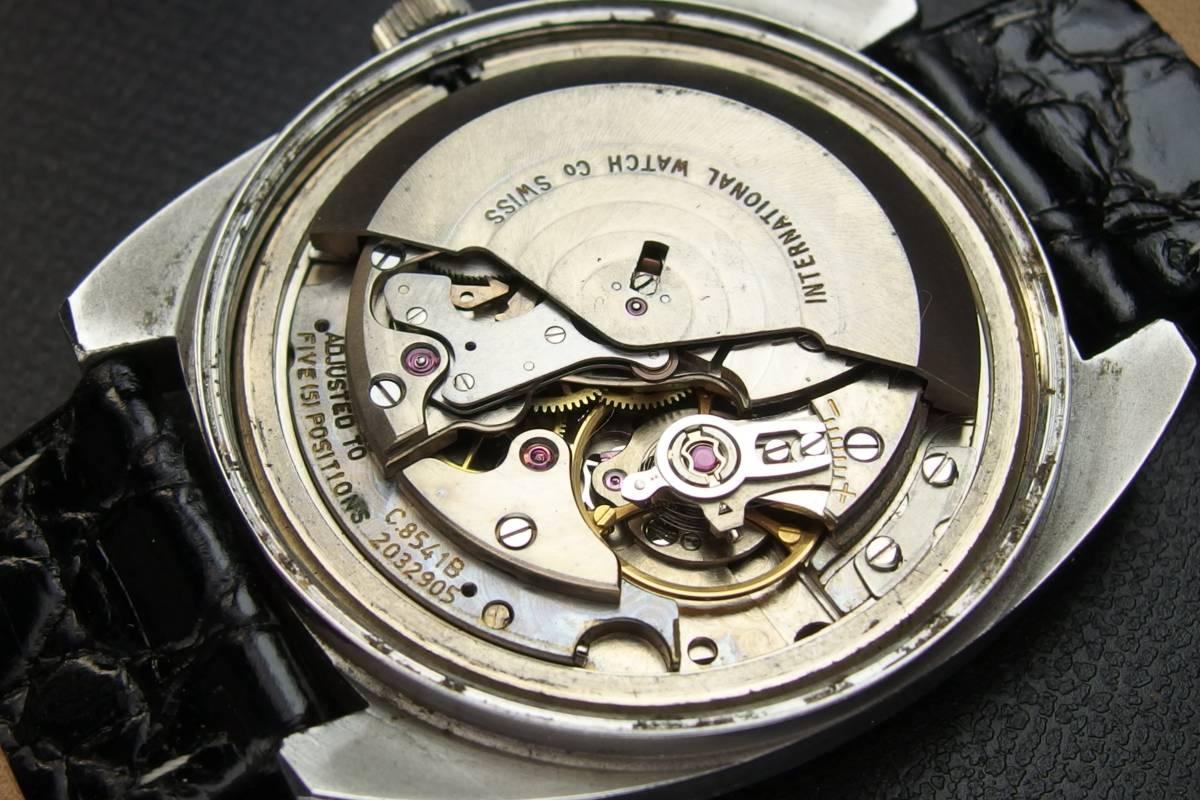 IWC インターナショナルウォッチカンパニー Ref.1872 C.8541B Cライン SSxレザー 自動巻き メンズ 腕時計_画像8