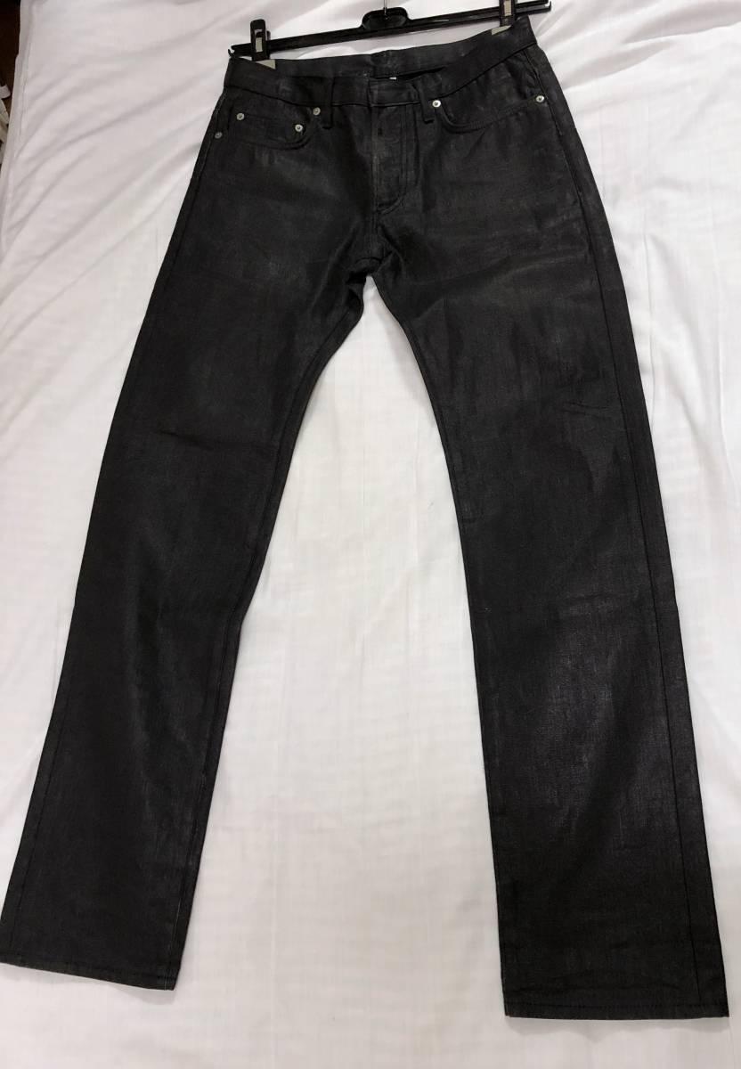正規 エディ期 Dior Hommeディオールオム コーティングデニムパンツ黒 30 M ナイトフォール 光沢ブラックジーンズ 7H ポリウレタン樹脂加工_着用するだけでコーディネート全体を格上げ