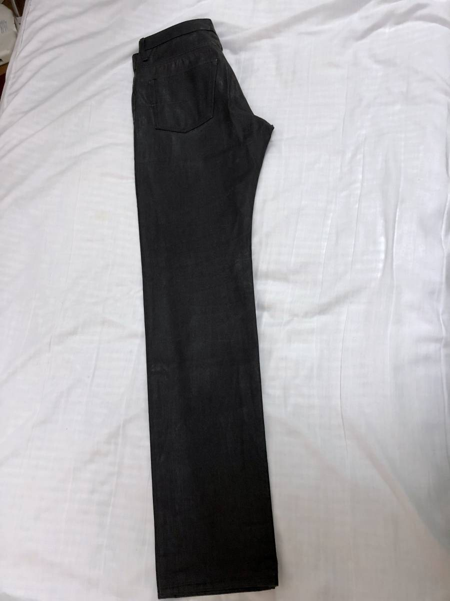 正規 エディ期 Dior Hommeディオールオム コーティングデニムパンツ黒 30 M ナイトフォール 光沢ブラックジーンズ 7H ポリウレタン樹脂加工_画像5