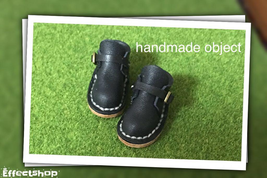 ハンドメイド 革靴 ブーツ ミニチュア 栃木レザー使用 (ピュアニーモS サイズ) ブラック 黒 リバティ
