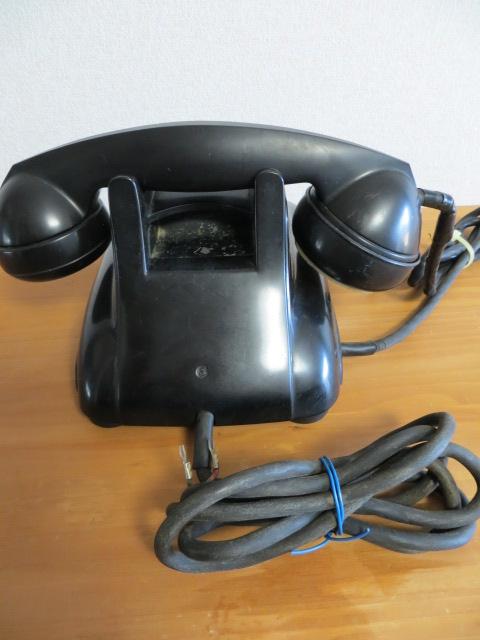 当時物 昭和38年 電電公社マーク付 黒電話 富士通信機製 4号A自動式 動作未確認 ダイヤル式 日本電信電話公社_画像8