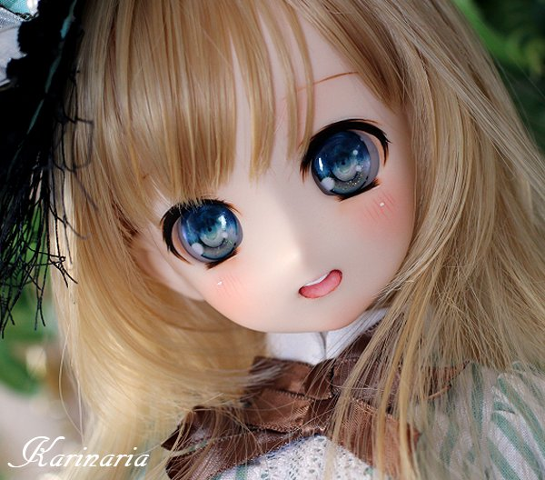 ◆Karinaria◆オビツ50-04 カスタムヘッド+アイ3組 ホワイティ肌