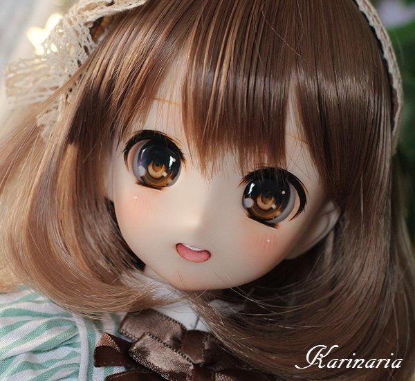 ◆Karinaria◆オビツ50-04 カスタムヘッド+アイ3組 ホワイティ肌_画像2