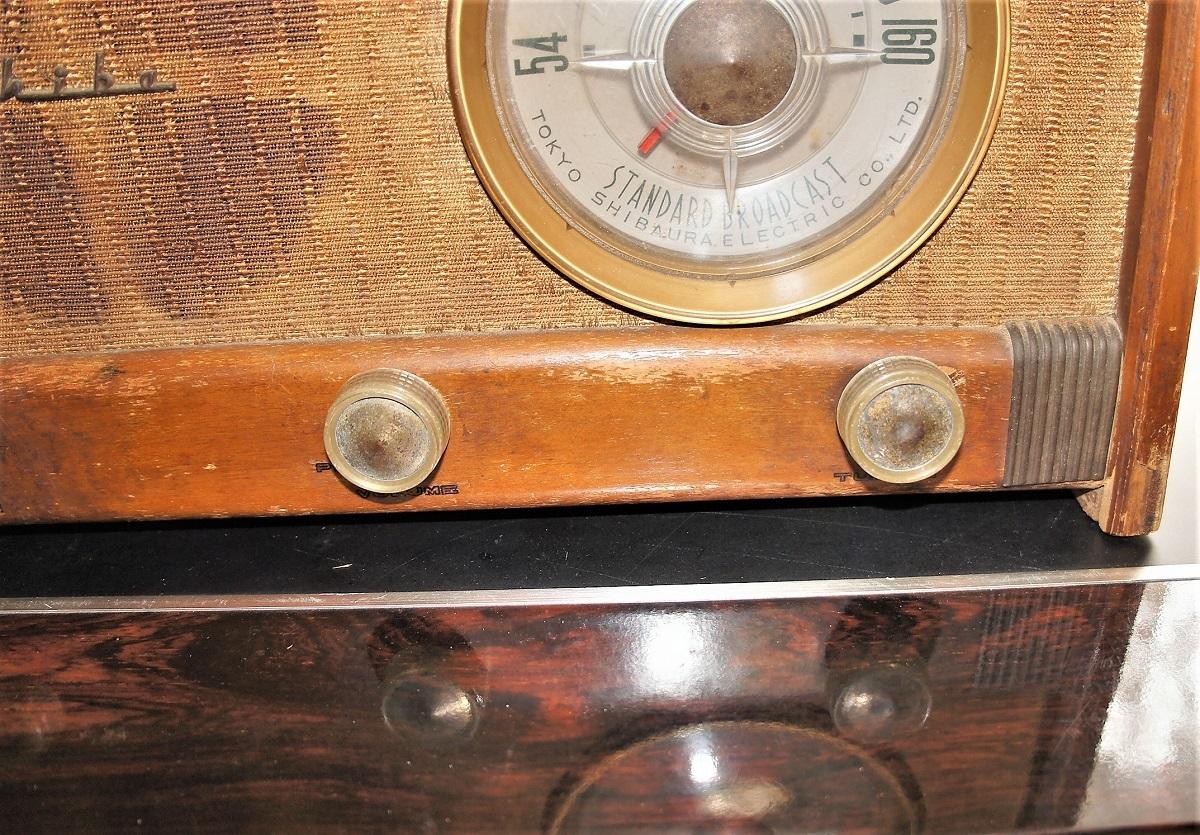 東芝真空管ラジオ MODEL 614A 未チェックのジャンク_画像8