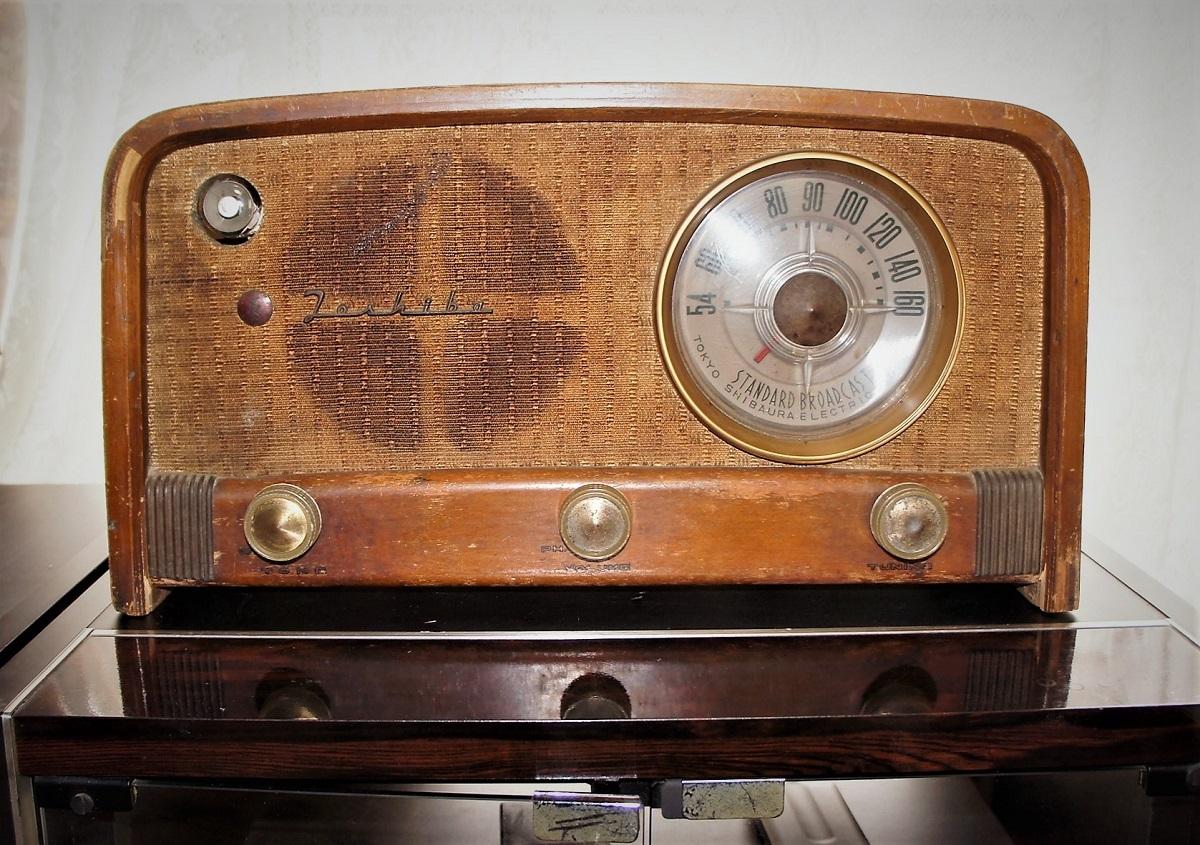 東芝真空管ラジオ MODEL 614A 未チェックのジャンク_画像2