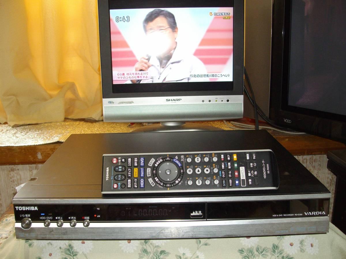 東芝HDD&DVDレコーダーRD-E300 B-casカード、リモコン付き