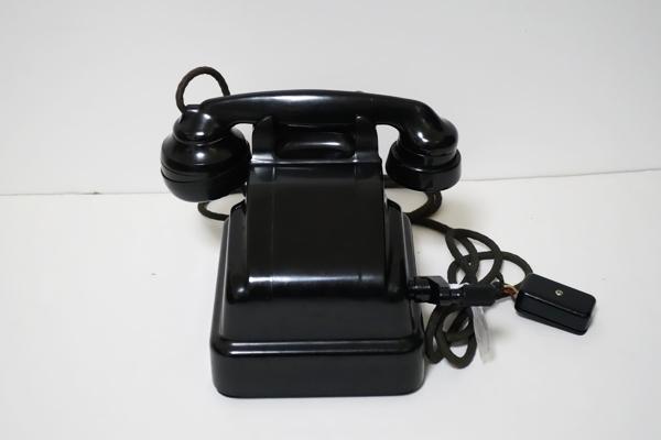 ■手回し電話機 3号磁石式 昭和41年5月製造 日本電信電話公社 卓上 アンティーク 昭和レトロ ジャンク品