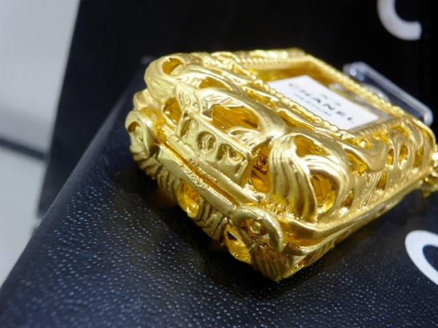 1円 CHANEL シャネル ロング ネックレス 香水 NO.5 ゴールド 未使用_画像4