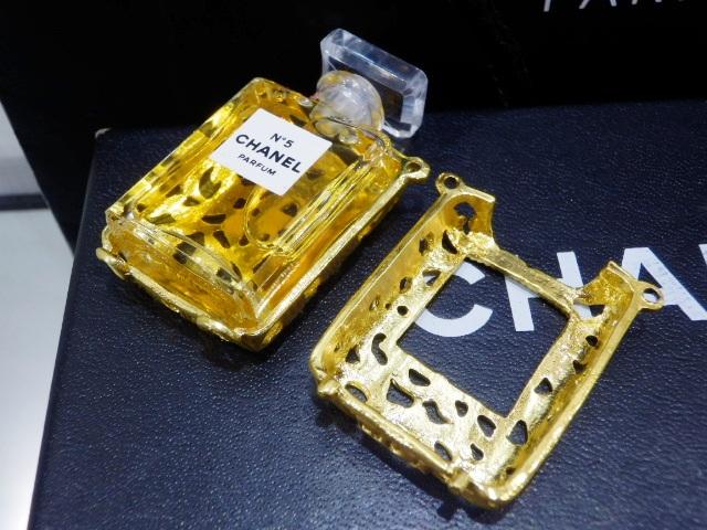 1円 CHANEL シャネル ロング ネックレス 香水 NO.5 ゴールド 未使用_画像5