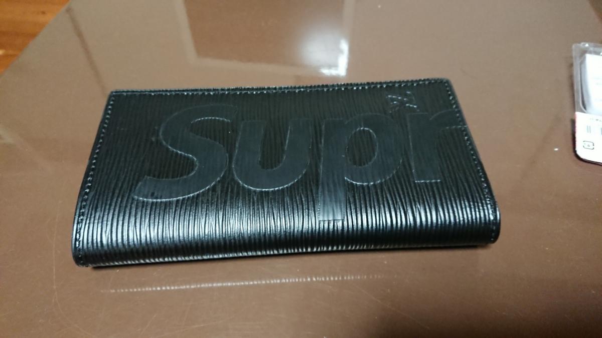 海外品 supreme louis vuitton 財布 黒