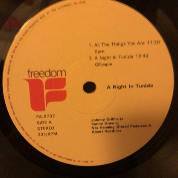 Johnny Griffin - A Night In Tunisia 1979国内盤LP  PA-9737 帯付き 解説付_画像2