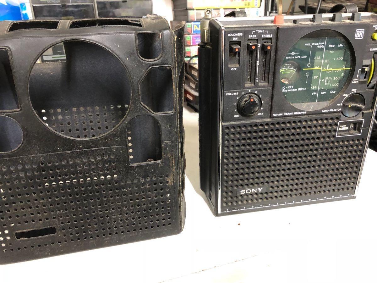 SONY ラジオ  レトロ ソニー ICF-5600 ジャンク
