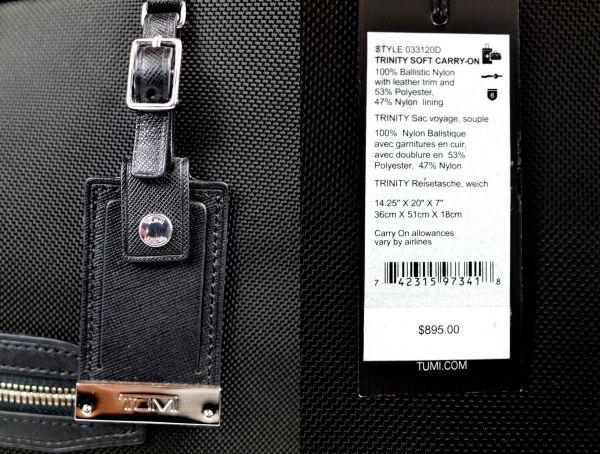 TUMI 33120D ASTOR 『トリニティ』キャリーオン [ ブラック ] $895_画像7