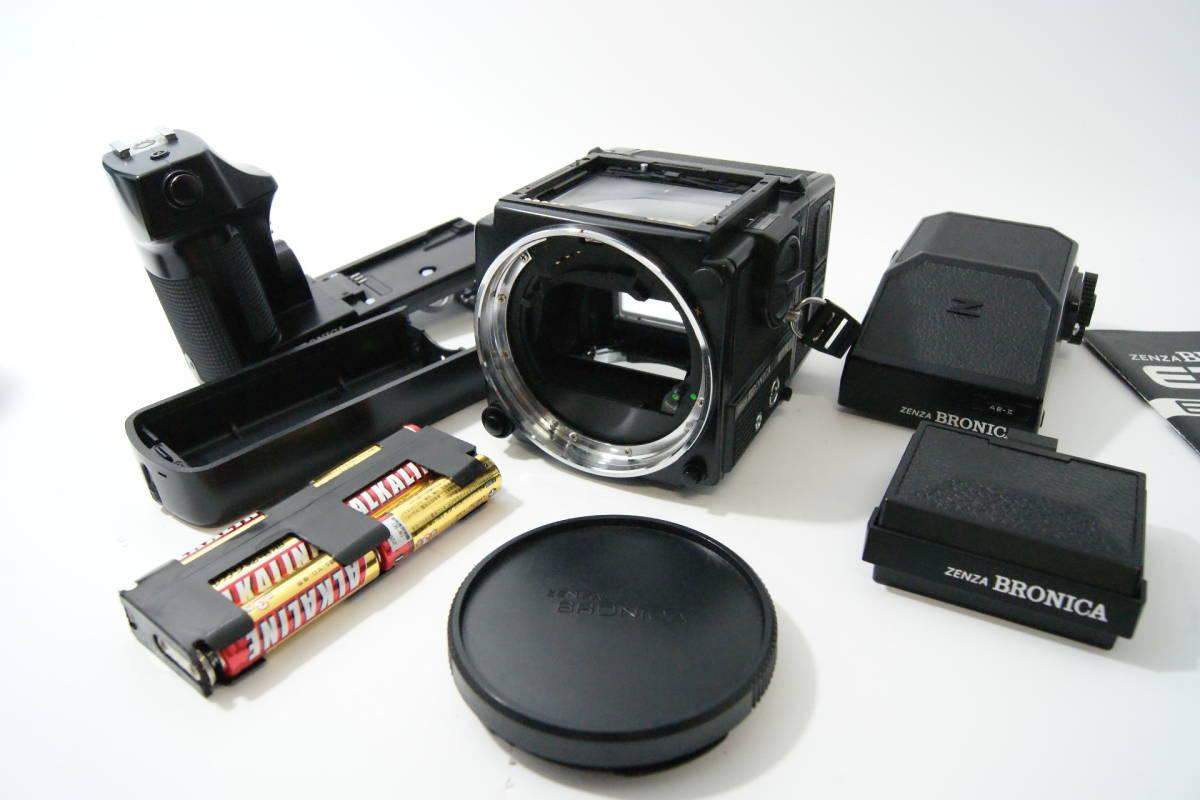 ブロニカ BRONICA ETR SI ワインダー付 40mm/f4 75mm/f2.8 150mm/f3.5 △カビ_画像3