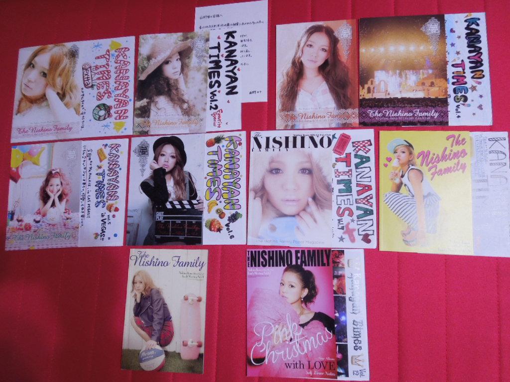 西野カナ 会報 vol.1-8,11-12 10冊セット