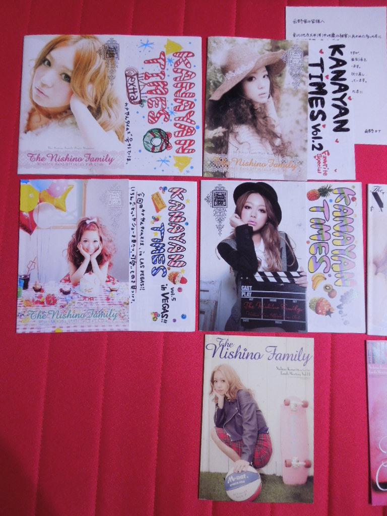 西野カナ 会報 vol.1-8,11-12 10冊セット_画像2