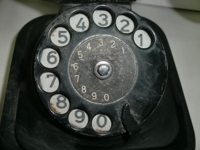 [南十字星]0323H戦前 黒電話 富士通信機_画像4