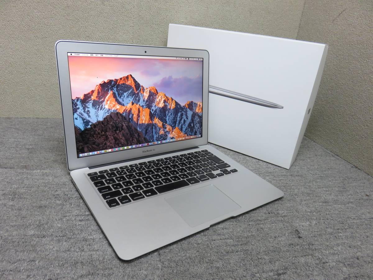 MacBook Air A369◆13型◆Mid 2011◆ 高速Core i5 / 4GB / SSD 121GB◆ macOS 10.13.3 & Adobe, Office 2016付き◆中古美品