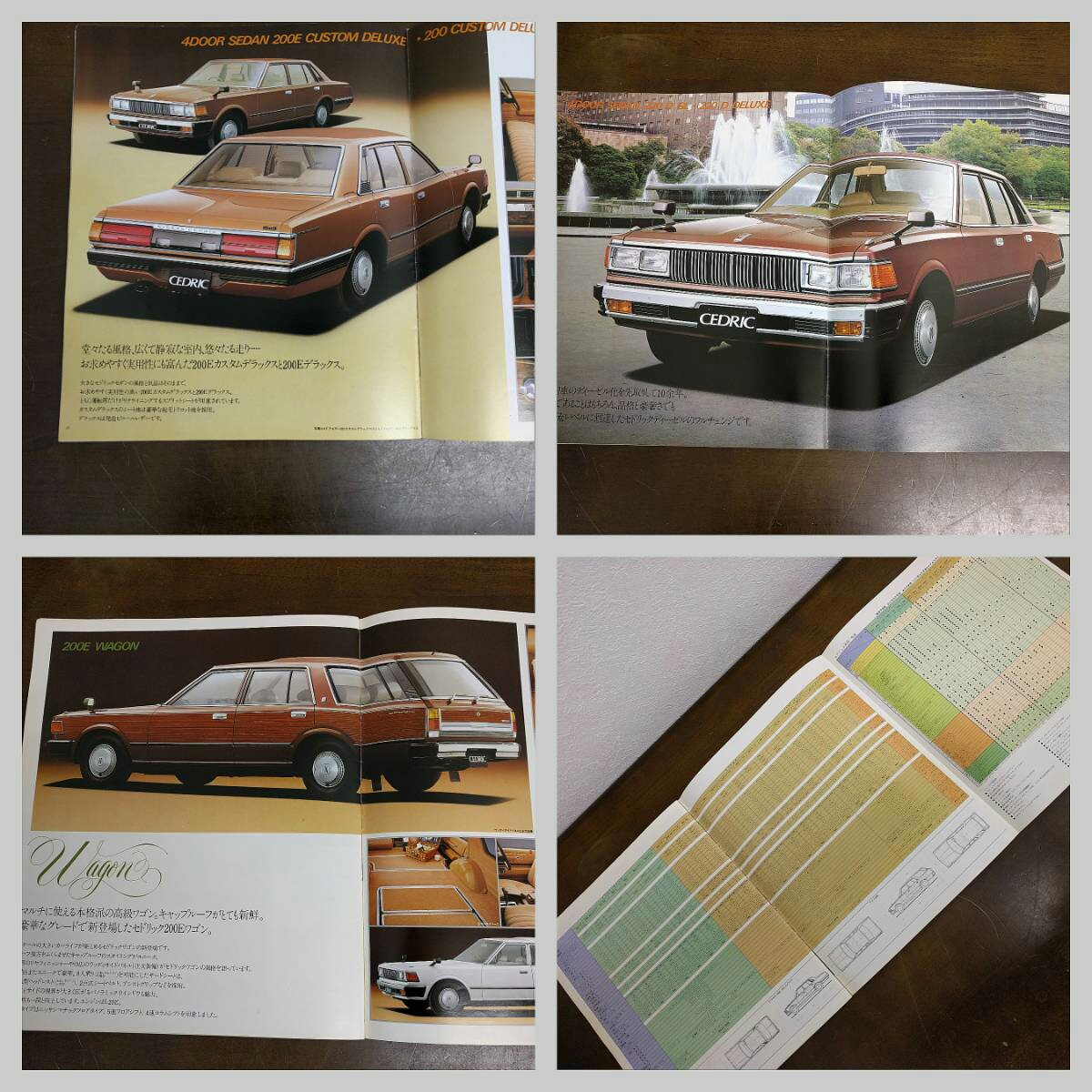 ◯当時物 旧車カタログ 日産 セドリック 昭和レトロ NISSAN CEDRIC (SC-16)_画像5