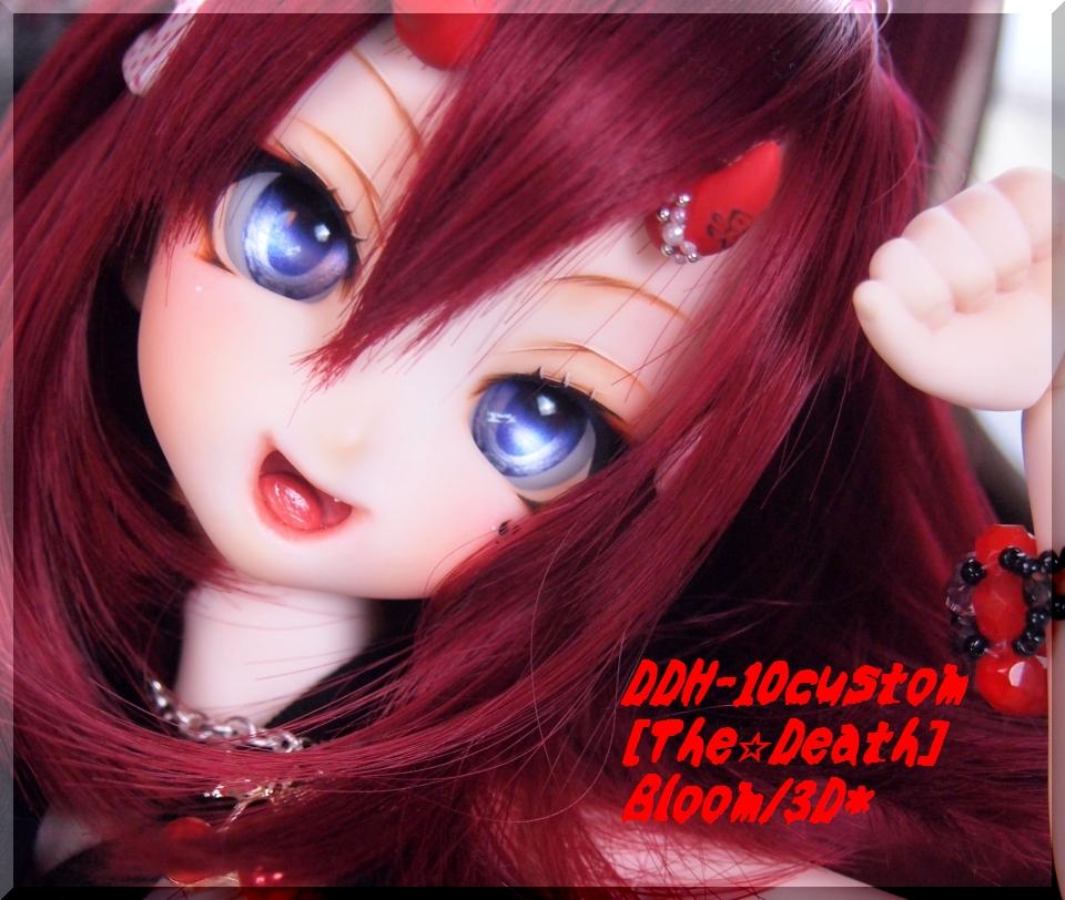*B-3D*DDH-10:カスタムヘッド[THE★Death]開口+Eye3p+ツノ:MDD、40素体等にも♪