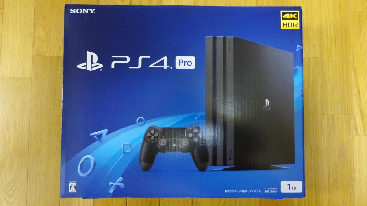 新品 SONY PS4 pro プレイステーション4 pro CUH-7100B B01 1TB ジェットブラック