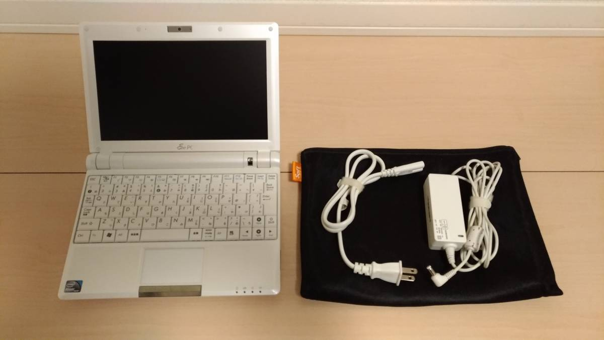 【中古】★ASUS(エイスース)Eee PC 900HA★Atom N270 1.60GHz★メモリー2GB増設 HDD16GB→32GB SSD交換済み